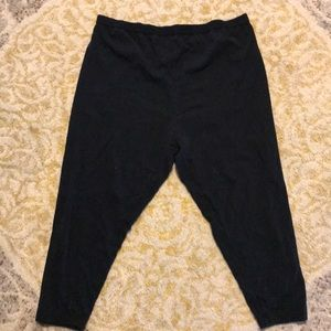Pants - Black yoga capris, wore them as maternity